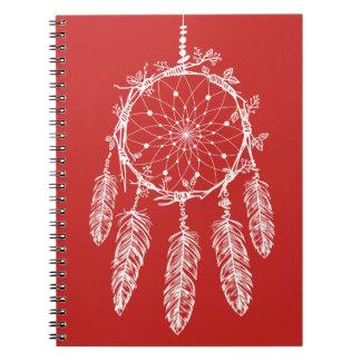 De stammen Rode & Witte Inheemse Amerikaanse Ringband Notitieboek