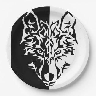 De stammen Stijl van de Wolf Papieren Bordjes