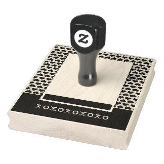 De Stamper van de Grens van het hart xoxoxox Rubberenstempel