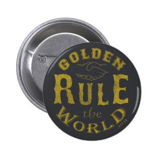 De standaard Vintage Gouden Regel van de Knoop de Ronde Button 5,7 Cm