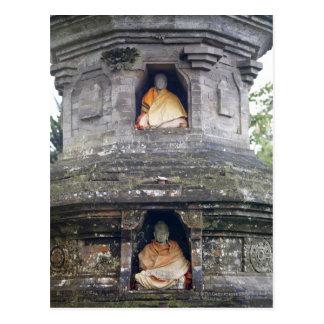 De standbeelden van de Tempel van Danu van Ulun, Briefkaart