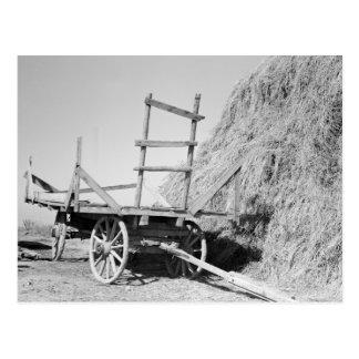 De stapel en de wagen van het hooi - 1939. briefkaart