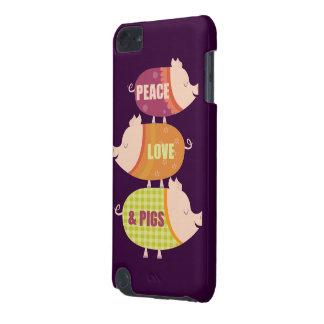 De Stapel van de Varkens van de Liefde van de vred iPod Touch 5G Hoesje