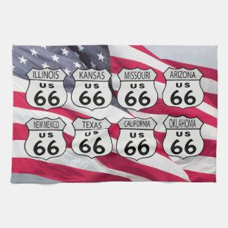 De Staten van de V.S. 66 van de route Theedoek