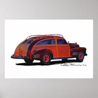 De Stationcar van Cadillac 1941/Bosrijk Poster