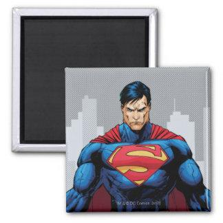 De Status van de superman Vierkante Magneet