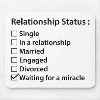 De Status van het relatie Muismat