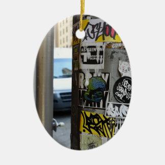 De Stedelijke Fotografie NYC van de Kunst van de Keramisch Ovaal Ornament