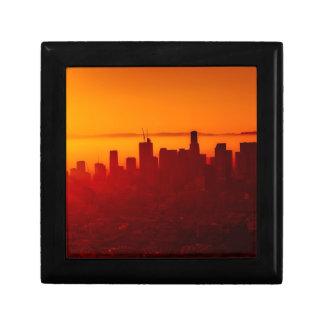 De Stedelijke Horizon van de Stad van Los Angeles Decoratiedoosje