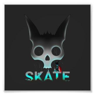 De Stedelijke Koele Kat Graffiti van het schaats Foto Afdrukken