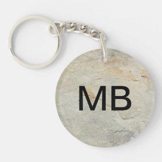 De steen kijkt het Monogram Keychain van het Sleutelhanger