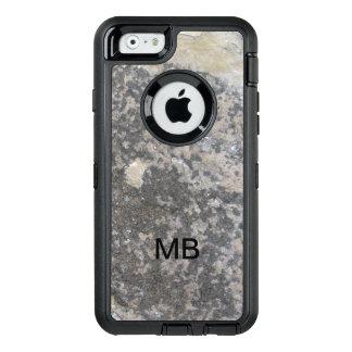 De Steen van het Mannen van het monogram ziet OtterBox Defender iPhone Hoesje