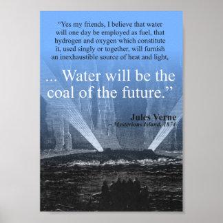 De steenkool van het water… van de toekomst - poster