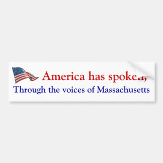 De stem van Amerika Bumpersticker