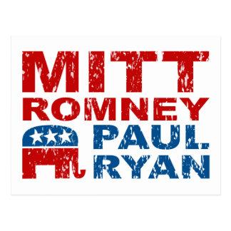 De Stem van de Looppas van Ryan van Romney wint Briefkaart