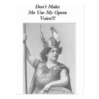 De Stem van de opera Briefkaart