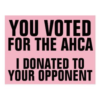 De Stemmen van het congres voor AHCA, schenken wij Briefkaart