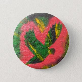 De Stencil van de Duif van de vrede Ronde Button 5,7 Cm