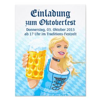 De Stenen bierkroes van het Bier van de Vrouw van 10,8x13,9 Uitnodiging Kaart