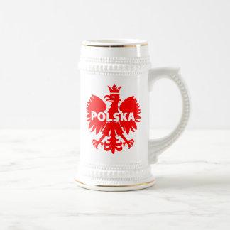 """De Stenen bierkroes van het Bier van """"Polska"""" Bierpul"""