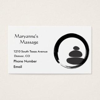 De Stenen van de massage en Cirkel Enso Visitekaartjes