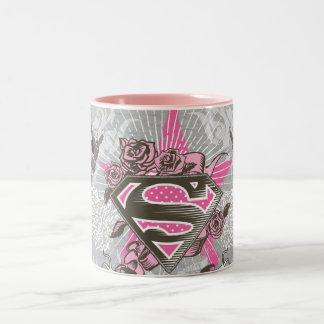 De Ster en de Rozen van Supergirl Tweekleurige Koffiemok