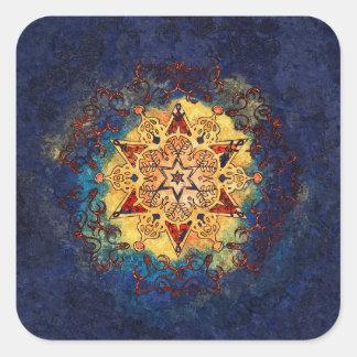 De ster glanst Gouden en Blauwe Stickers