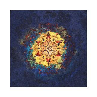 De ster glanst in Goud en Blauw Canvas Print