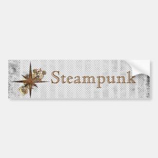 De Ster Grunge van het Kompas van Steampunk Bumpersticker