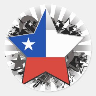 De Ster van Chili Ronde Sticker