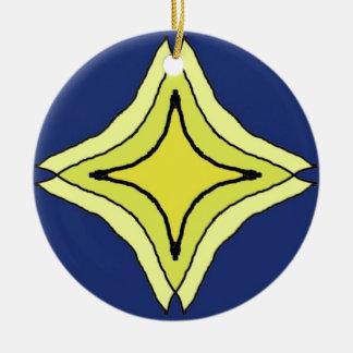 De Ster van de drievuldigheid Rond Keramisch Ornament