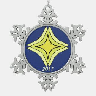 De Ster van de drievuldigheid Tin Sneeuwvlok Ornament