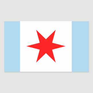 De Ster van de Vlag van Chicago en de Stickers van
