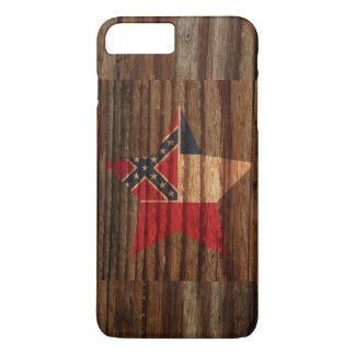 De Ster van de Vlag van de Mississippi op Houten iPhone 7 Plus Hoesje