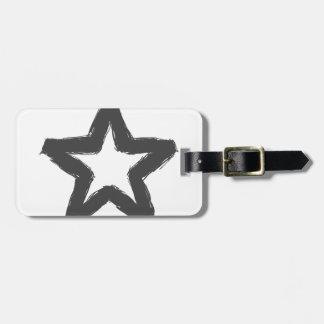 De ster van de voorzichtigheid vooruit! kofferlabels