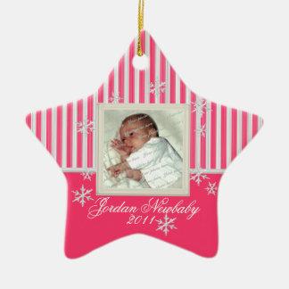 De Ster van eerste Kerstmis en het Roze van Keramisch Ster Ornament