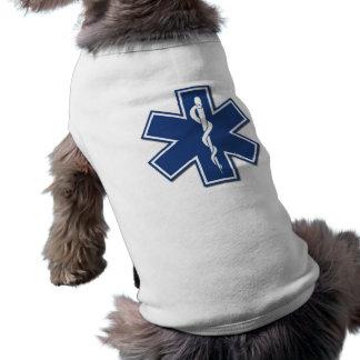 De Ster van EMS van het Leven Mouwloos Hondenshirt