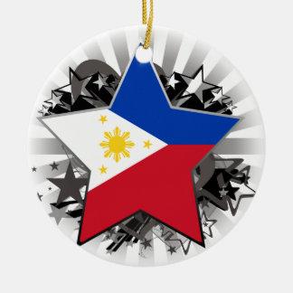 De Ster van Filippijnen Rond Keramisch Ornament