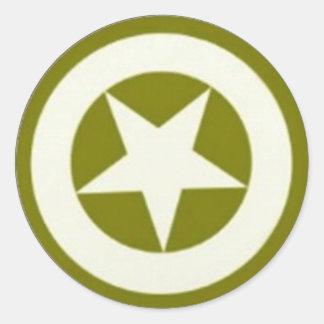 De Ster van het leger Ronde Stickers