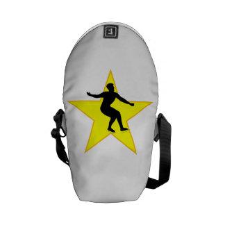 De Ster van het Silhouet van de kunstschaats Messenger Bag
