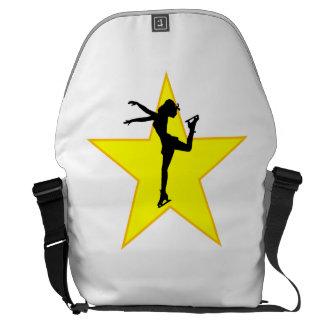 De Ster van het Silhouet van de kunstschaats Messenger Bags