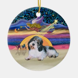 De Ster van Kerstmis - Petit Basset 8 Rond Keramisch Ornament