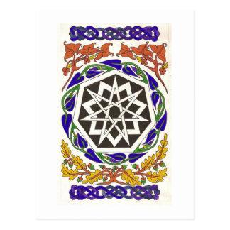 De Ster van Septagram van de Sleutelwoorden Briefkaart