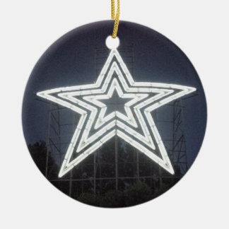 De Ster van Virginia van Roanoke Rond Keramisch Ornament