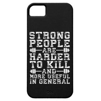 De sterke Mensen zijn Moeilijker te doden - Barely There iPhone 5 Hoesje