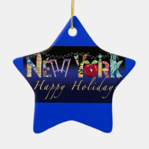 De sterornament van New York Kerstboom Ornamenten