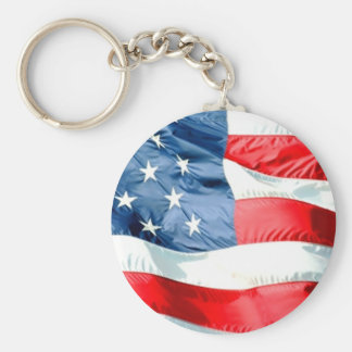 De Sterren en Strepen Keychain van de V.S. Sleutelhanger