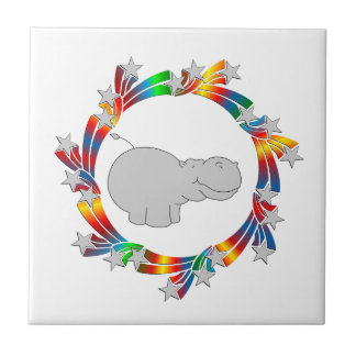 De Sterren van Hippo Keramisch Tegeltje