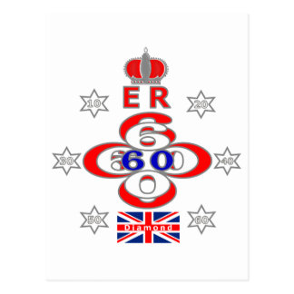 De sterrenontwerp van het Jubileum van het Queens Briefkaart