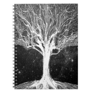 De sterrige Boom van de Nacht van het Leven Notitieboek